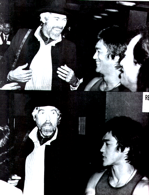 James Coburn and Bruce Lee